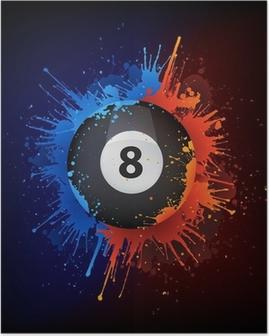 Poster Sport_Billiard_Fire_Water_Paint_Vector_001 (4). Jpg