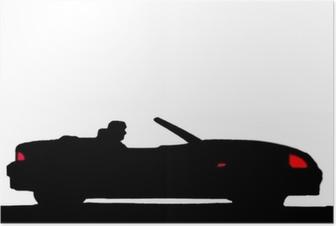 Sport car silhouette Poster