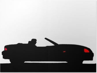 Sport car silhouette Poster
