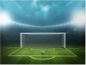 Poster Stadion met voetbal