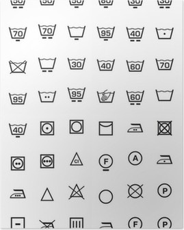 Poster Ställa icone lavaggio e lavatrice