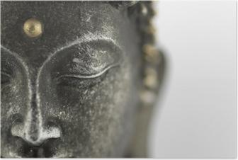 Poster Statue de bouddha sur fond blanc