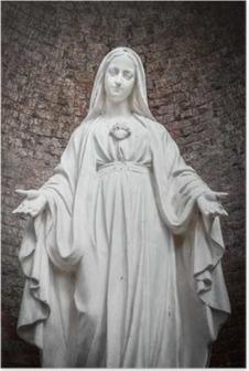 Poster Statue de Notre-Dame