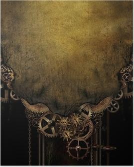 Steampunk Background Poster