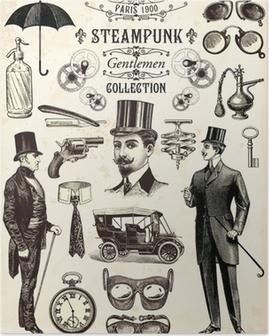 Steampunk gentlemen collection Poster