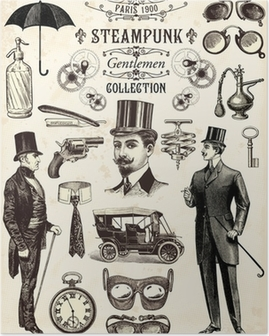 Poster Steampunk heren collectie