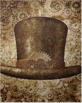 Poster Steampunk Top Hat