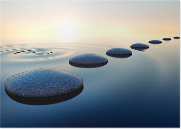 Steine Im Wasser Poster Pixers We Live To Change