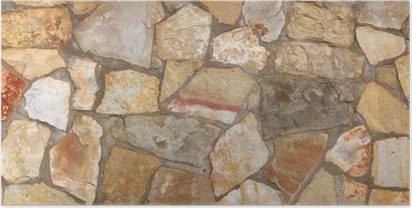 steinwand, steinwand; seinmauer, natursteinmauer; natursteinwand poster, Design ideen