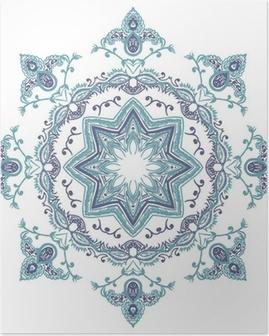 Poster Stencil Mandala Indische Ontwerp