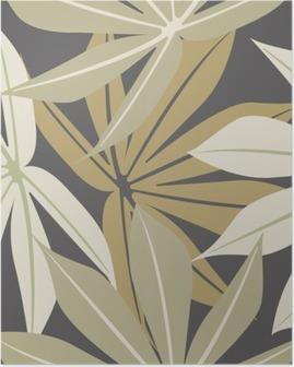 Poster Stijlvol naadloze patroon met tropische bladeren