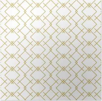 Poster Stijlvolle lineaire geometrische naadloze vector patroon in goud