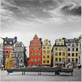 Poster Stockholm, le c?ur de la vieille ville,