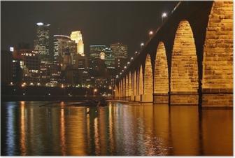 Stone Arch Bridge, Minneapolis Minnesota Poster