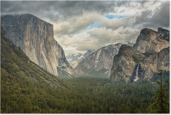Stormy Clouds in Yosemite park Poster