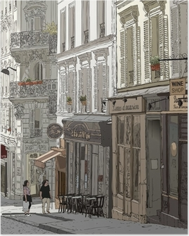 Poster Straat in Montmartre
