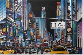 Poster Straat in New York city