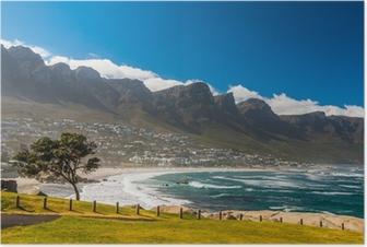 Poster Strand in Kaapstad Zuid-Afrika