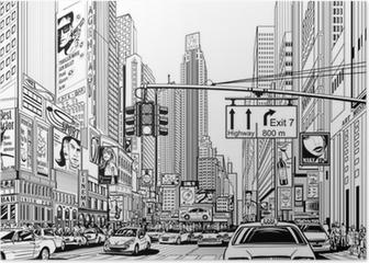 street in New York city Poster