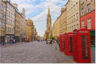 street view of Edinburgh, Scotland, UK Poster