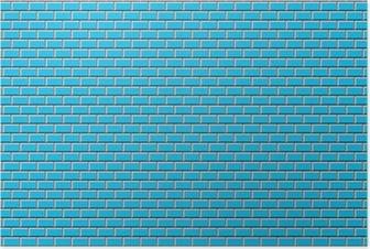 Poster Subway Tile-Blue