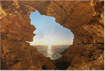 Poster Sunset in i grotta