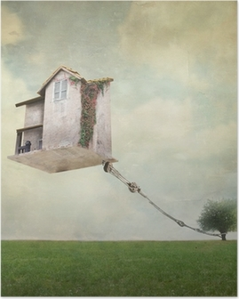Surreal house Poster