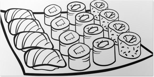 Paarden Kleurplaate Poster Sushi Lunch Cartoon Kleurplaat Pixers 174 We Leven