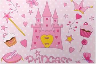 Póster Sweet Princess Icons