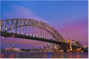 Poster Sydney Habour bridge - sydney city