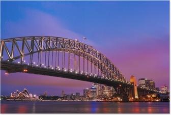 Poster Sydney habour brug - sydney stad