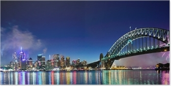 Poster Sydney Harbour NYE Fireworks Panorama