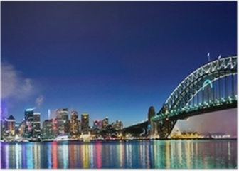 Sydney Harbour NYE Fireworks Panorama Poster