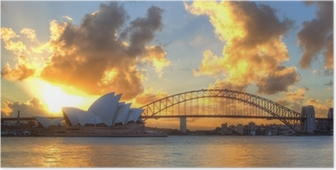 Sydney Harbour with Opera House and Bridge Poster
