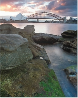 Sydney Opera House and harbour bridge Poster