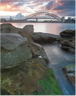 Poster Sydney Opera House et Harbour Bridge