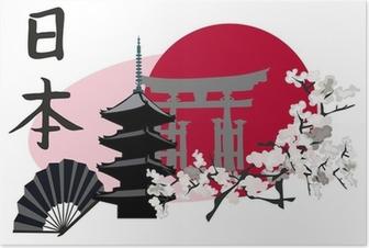 Poster Symboles japonais