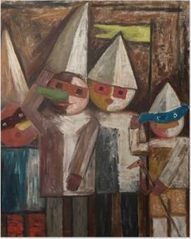Póster Tadeusz Makowski - El carnaval de los niños con una bandera