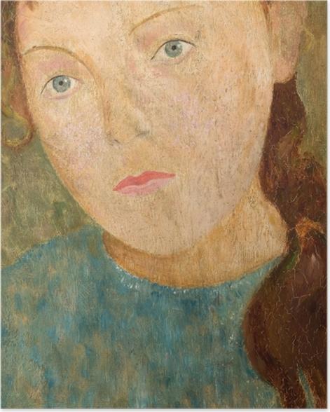 Poster Tadeusz Makowski - Fille avec une tresse rouge - Reproductions