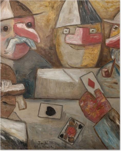 Poster Tadeusz Makowski - Jeux de cartes - Reproductions