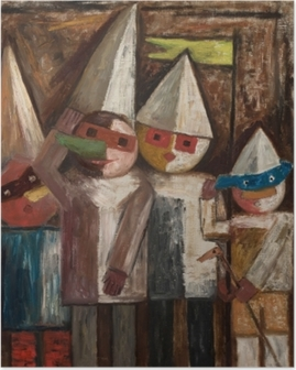Poster Tadeusz Makowski - Kindercarnaval met vlaggetje