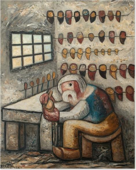Tadeusz Makowski - Shoemaker Poster - Reproductions