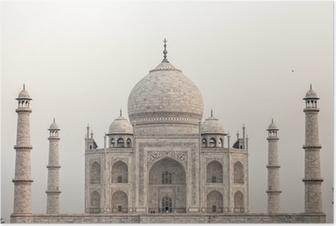 Poster Taj mahal.famous monument historique en Inde, Agra, dans l'Uttar Pradesh
