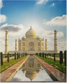 Poster Taj Mahal i Indien