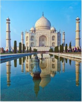 Poster Taj Mahal in India