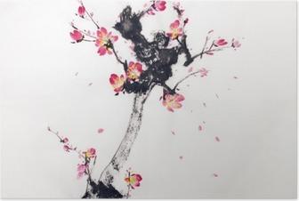 Poster Tak van de kersenbloesem