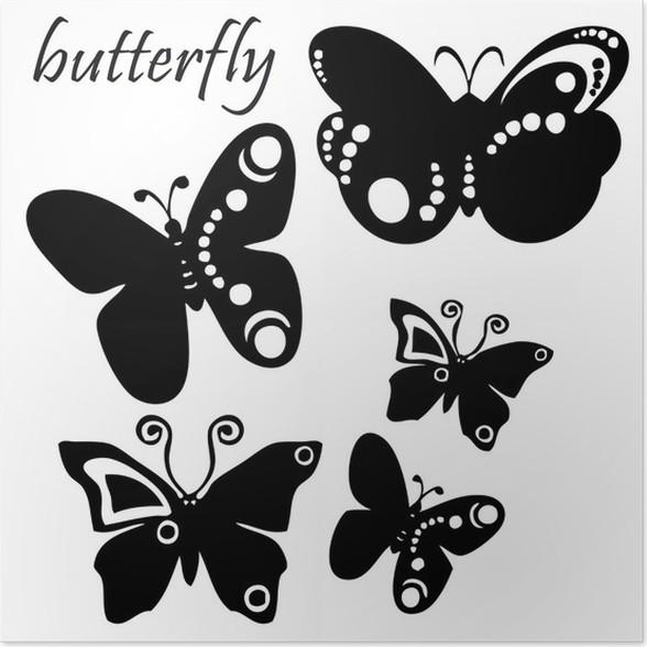 image papillon noir et blanc fabulous walplus stickers papillons et pissenlit noir brandalley. Black Bedroom Furniture Sets. Home Design Ideas