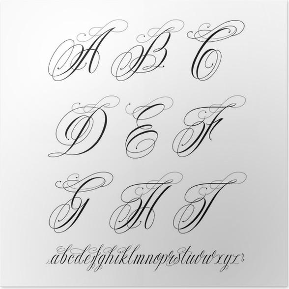 Tattoo alphabet poster pixers we live to change tattoo alphabet poster thecheapjerseys Image collections