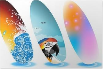 Poster Tavola da surf