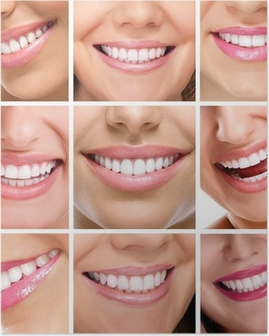 teeth collage of people smiles Poster